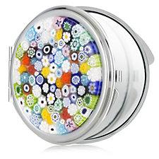 Murano Glass Millifiori Compact Mirror