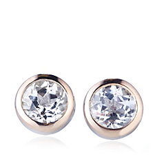 Clogau 9ct Rose Gold & Sterling Silver White Topaz Stud Earrings