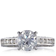 Michelle Mone for Diamonique 2.7ct tw Solitaire Ring Sterling Silver