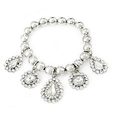 Frank Usher Crystal Drop Stretch Bracelet
