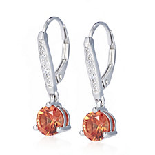 306625 - Diamonique 2.2ct tw Simulated Gemstone Drop Earrings Sterling Silver