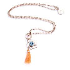 306725 - Bibi Bijoux Summer Brights Clover & Tassel 35cm Necklace with 8cm Extender