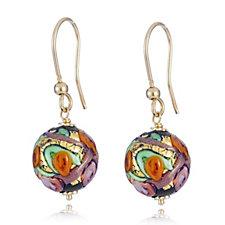 Murano Glass Millerose Drop Earrings Sterling Silver