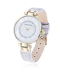 Anne Klein Women's Chelsea Leather Strap Watch