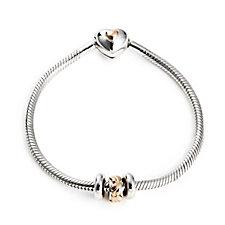 Clogau 9ct Rose Gold & Sterling Silver Milestone Bracelet w/ Charm