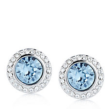 Crystal Glamour with Swarovski Crystals Halo Stud Earrings
