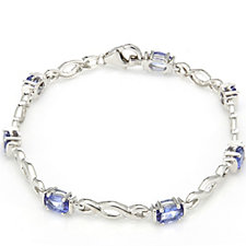 3ct AAA Tanzanite Oval Bracelet 18ct Gold