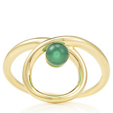 Links of London Serpentine Green Chalcedony Ring Sterling Silver