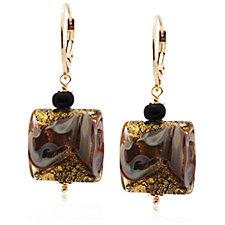 Murano Glass Icona Drop Earrings Sterling Silver
