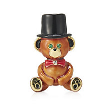 330525 - Butler & Wilson Teddy Bear In A Top Hat Brooch