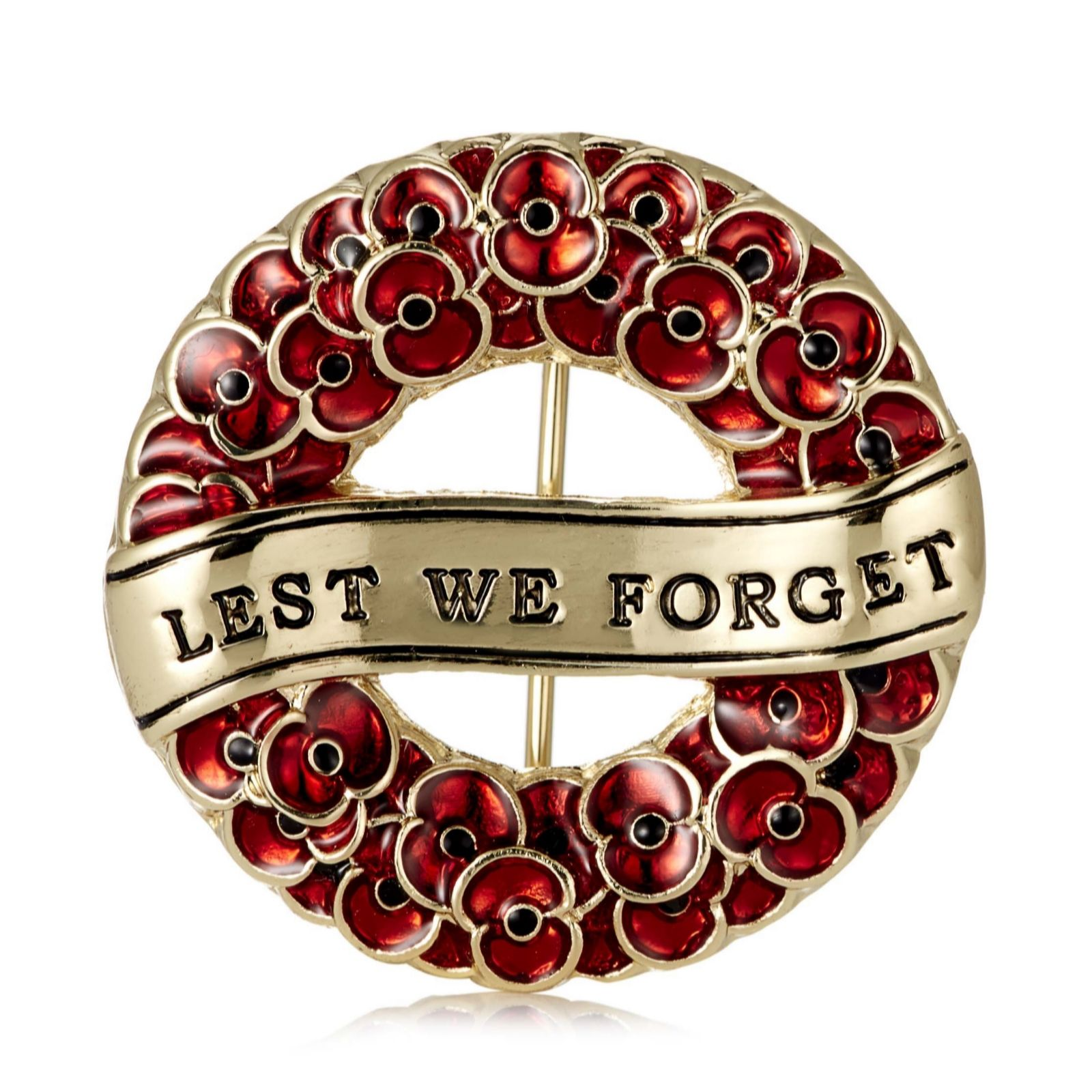 the poppy collection lest we forget wreath brooch by buckley