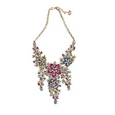 Butler & Wilson Couture Trailing Flowers Crystal Y-Shape 37cm Necklace