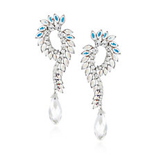 Butler & Wilson Crystal Hook Drop Briolette Earrings