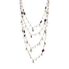 Lola Rose Delfine Multi Strand Semi Precious 62cm Necklace