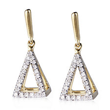 Lisa Snowdon 3D Diamond Earrings Gold Vermeil Sterling Silver