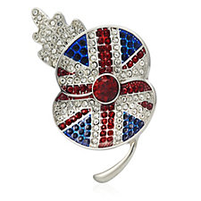 Buckley Poppy Sparkle Union Jack Brooch