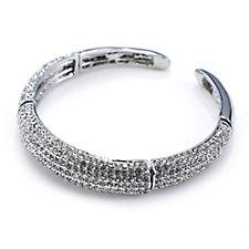 Frank Usher Pave Crystal Stretch Bracelet