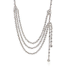 Butler & Wilson Couture 3 Row Crystal & Tassel 44cm Necklace