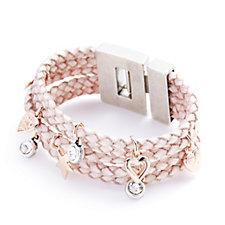 306727 - Bibi Bijoux Plaited Statement Charm Cuff Bracelet