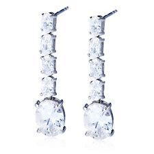 Diamonique 6ct tw Drop Earrings Sterling Silver