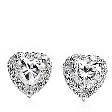 Michelle Mone for Diamonique 2.7ct wt Halo Stud Earrings Sterling Silver