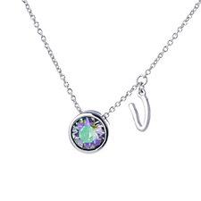 Aurora Swarovski Crystal Initial Charm 52cm Necklace