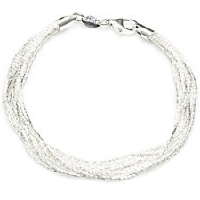 Links of London Essentials Silk 10 Row Bracelet Sterling Silver