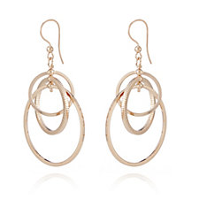 Bronzo Italia Interlinked Circles Drop Earrings