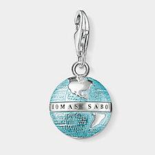 Thomas Sabo Charm Club Globe Charm Pendant Sterling Silver