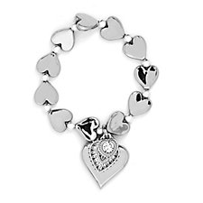 Bibi Bijoux Solid Heart Charm Bracelet