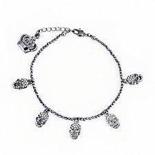 Butler & Wilson 5 Crystal Beaded Bracelet with Extender