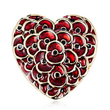 The Poppy Collection Heart of London Brooch by Buckley London