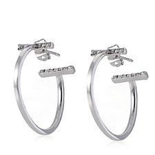 306228 - Loverocks Crystal Bar Hoop Earrings