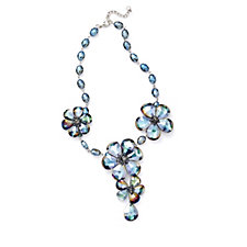Butler & Wilson Glass Flower 45cm Necklace with 5cm Extender