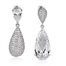Nour Crystal Pear Drop Earrings