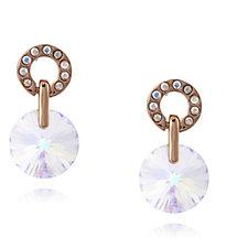 Aurora Swarovski Crystal Rivoli Drop Earrings