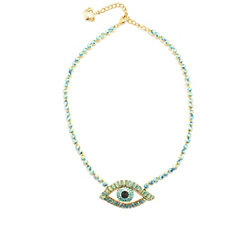 Butler & Wilson Crystal Eye Necklace