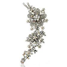 Butler & Wilson Glamorous Crystal Trailing Flower Brooch