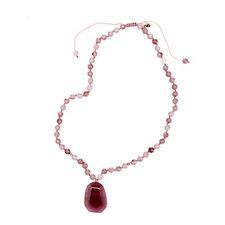 Lola Rose Tessi Semi Precious Pendant Adjustable 49cm Necklace