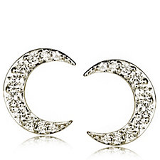 0.2ct Diamond Moon Stud Earrings 9ct Gold