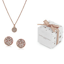 Johnny loves Rosie Crystal Earrings & Necklace Boxed Gift Set