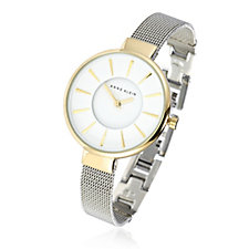 Anne Klein Maya Two Tone Mesh Bracelet Watch
