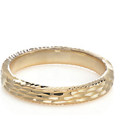 Bronzo Italia Diamond Cut Band Ring