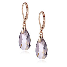309129 - Crystal Glamour with Swarovski Crystals Pear Drop Leverback Earrings