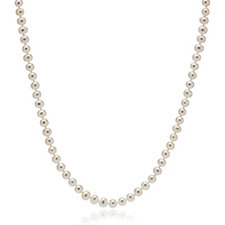 Honora 5-6mm Cultured Classic Pearl 45cm Necklace Sterling Silver