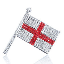 Butler & Wilson Crystal Flag Brooch