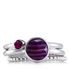Lola Rose Nerio Stacking Semi Precious Ring Set