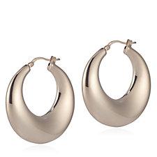 Bronzo Italia Sculpted Creole Hoop Earrings