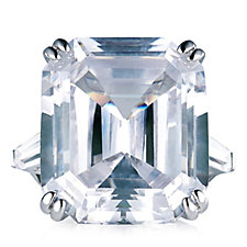 Elizabeth Taylor 33.19ct tw Simulated Diamond Asscher Cut Ring