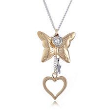 Bibi Bijoux Butterfly Pendant 51cm Necklace with 7cm Extender